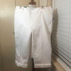 White Crop Mossimo Pants Sz 12